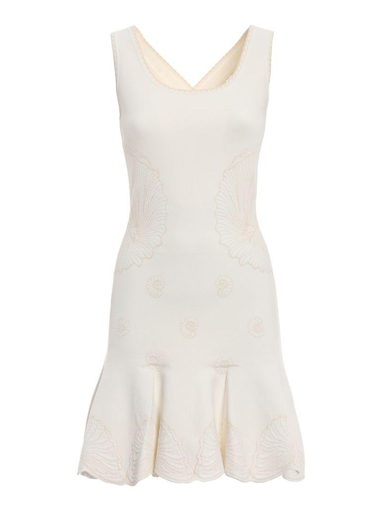 Alexander McQueen Shell Embroidered Dress - Ivory/bone