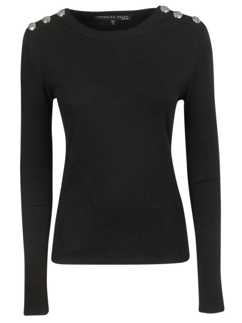 Veronica Beard Button Tab Top - Black