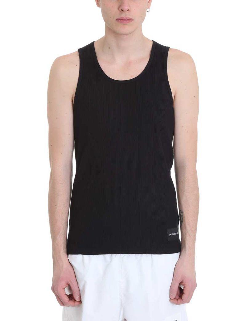 Calvin Klein Jeans Black Cotton Tank Top - black