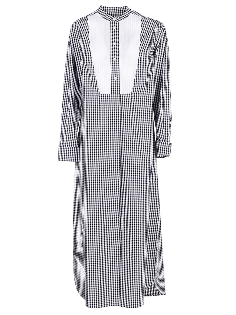 Calvin Klein Long Pintuck Dress - Classic gingham/white black