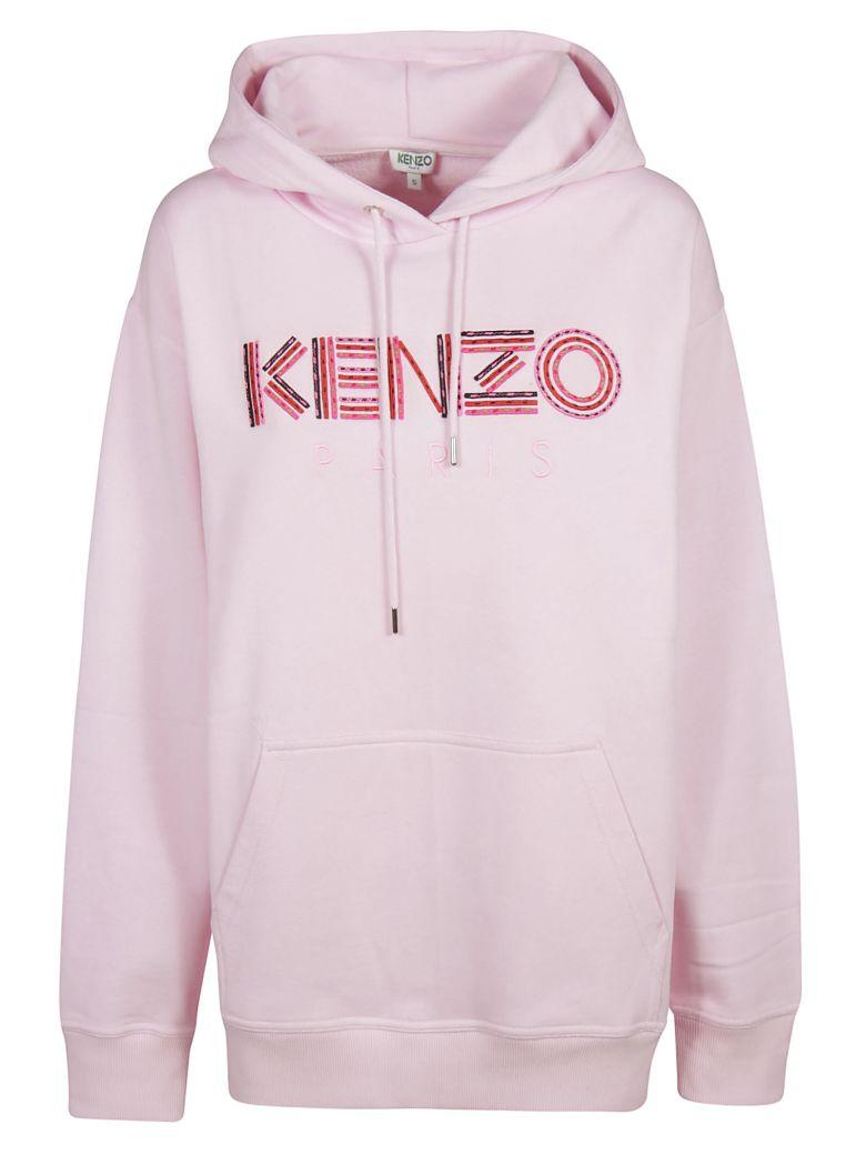 Kenzo Logo Front Hoodie - Pink