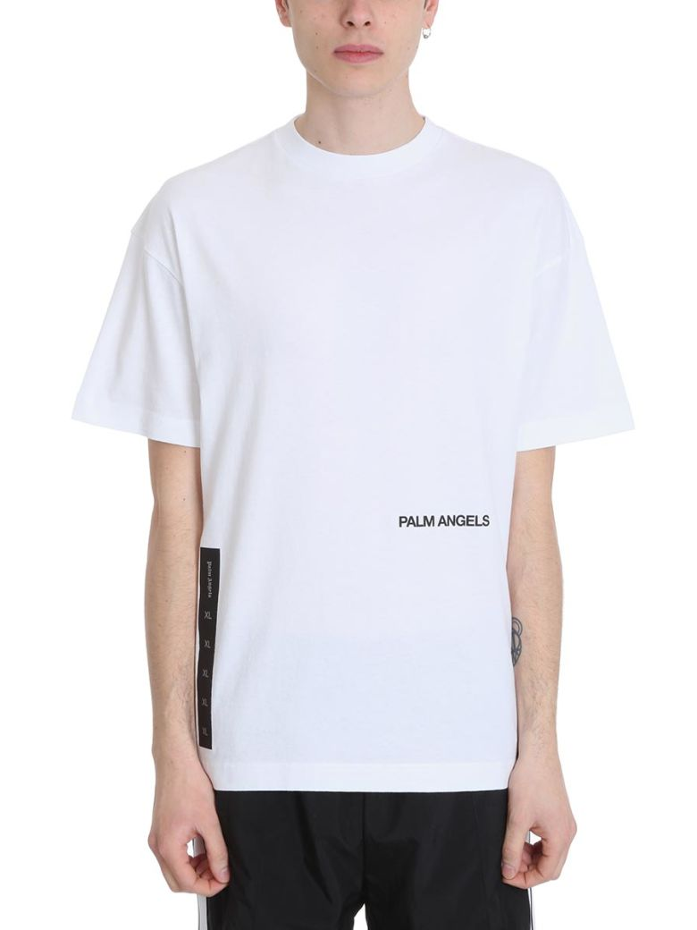 Palm Angels Recovery White Cotton T-shirt - White
