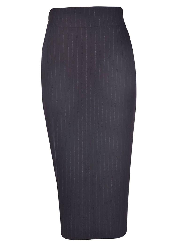 La Petit Robe Di Chiara Boni Pinstriped Skirt - Black