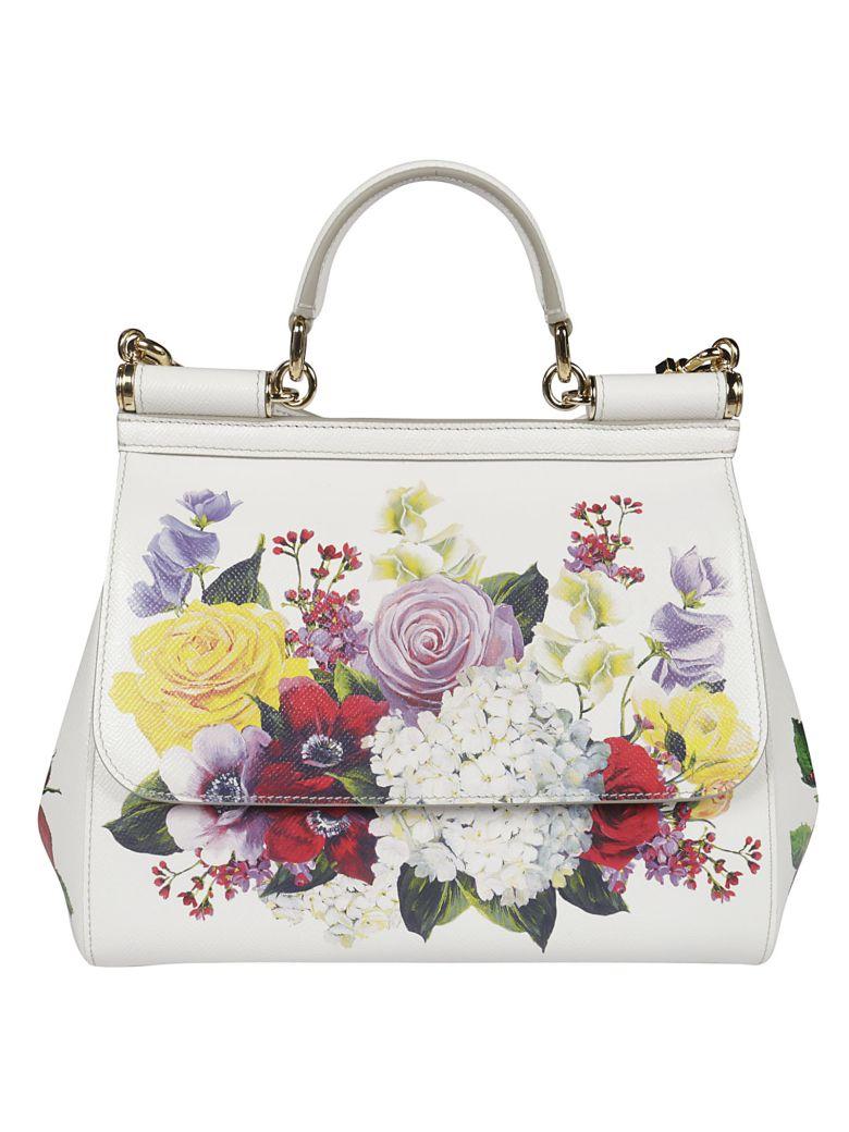Dolce & Gabbana Sicily Shoulder Bag - white