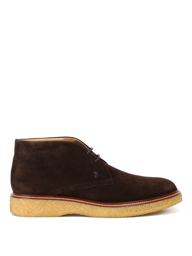 Tod's Desert Boots In Suede - Brown