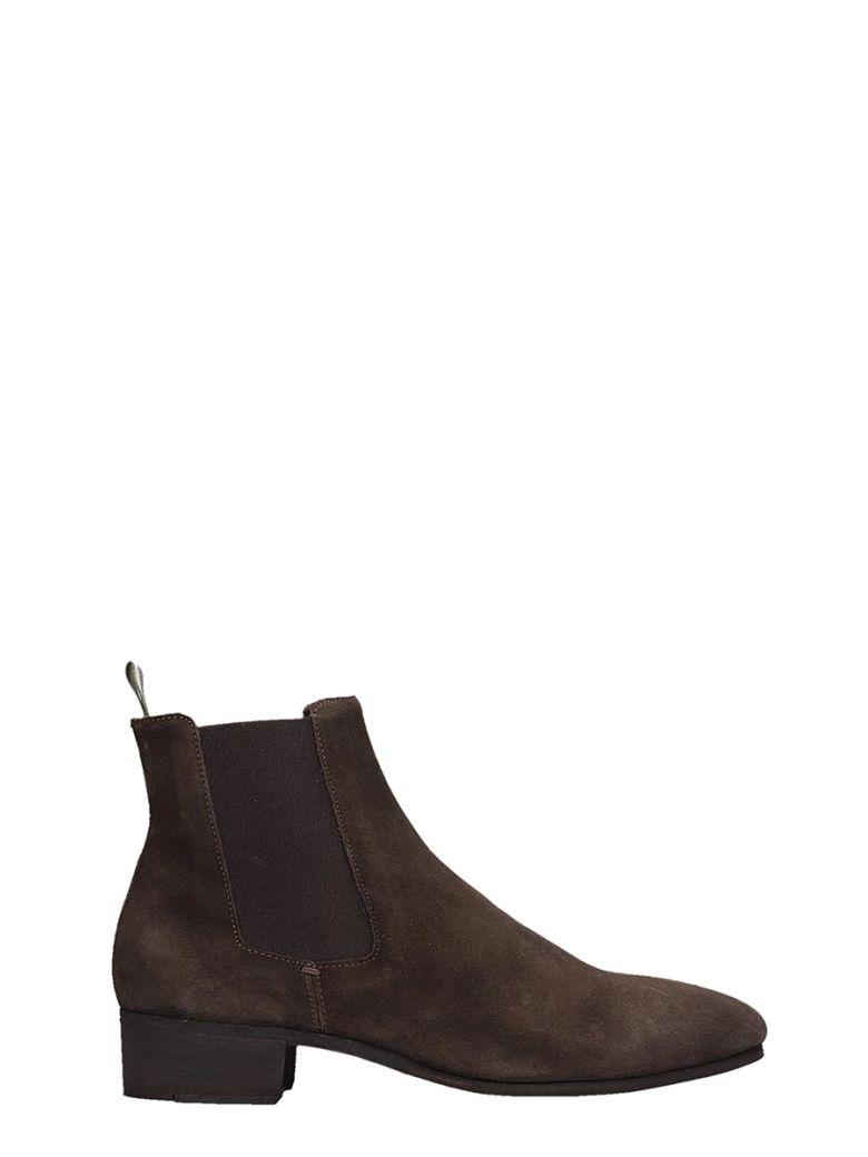 Officine Creative Browne Suede Ankle Boots - Brown