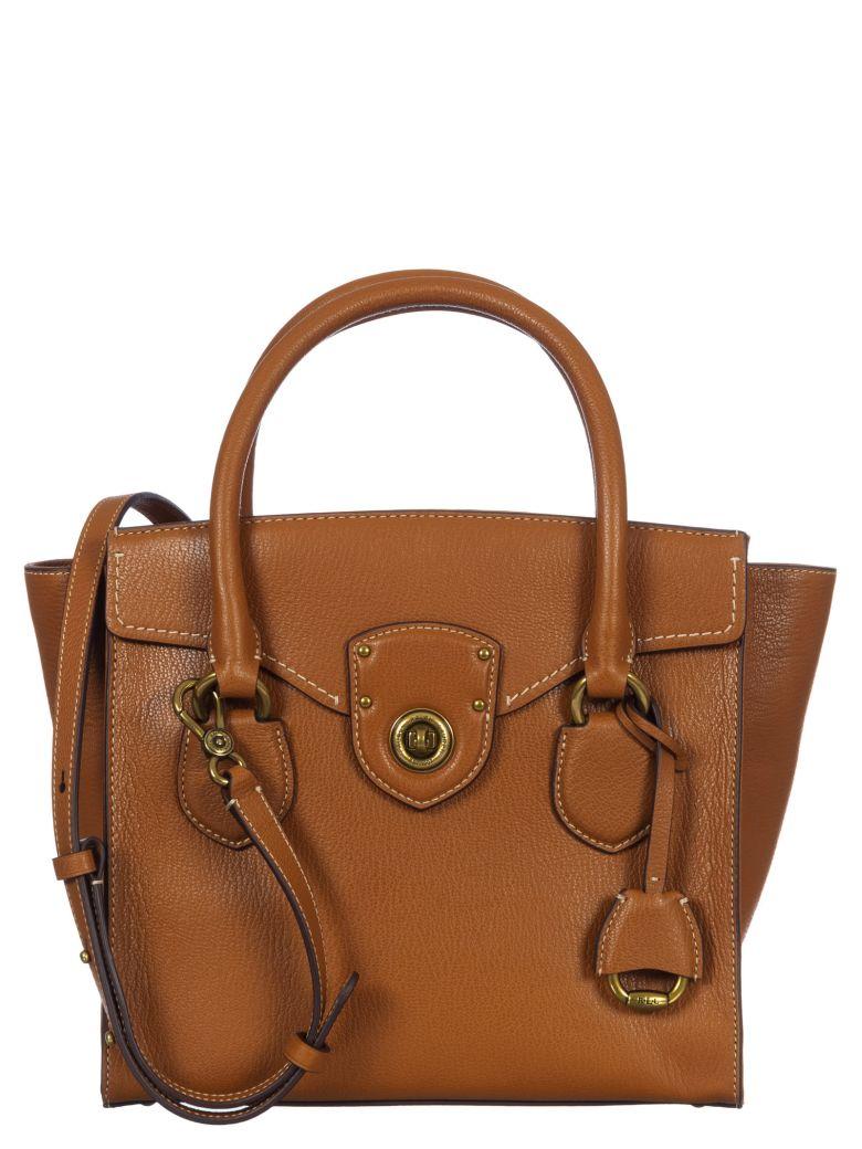 Ralph Lauren Leather Bowling Bag - Lauren-tan