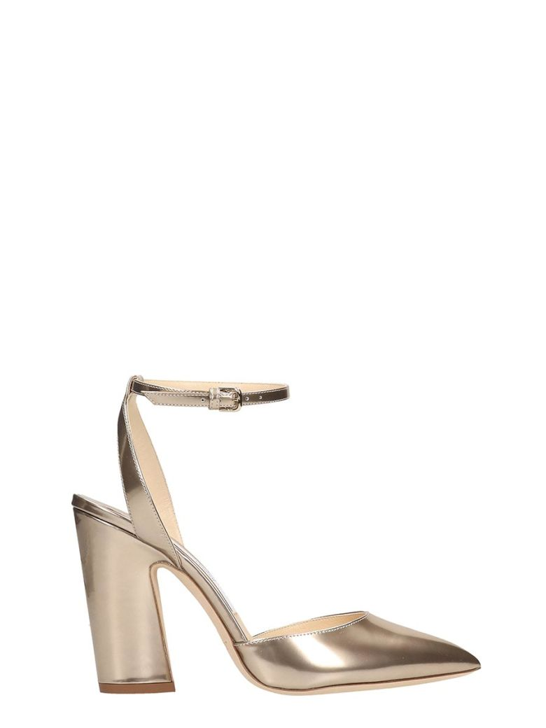 Jimmy Choo Gold Leather Micky Sandals - Gold