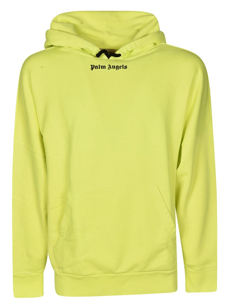 Palm Angels Back Logo Detail Hoodie - Yellow