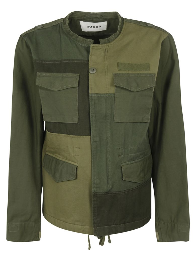 Zucca Multiple Patched Detail Jacket - Green