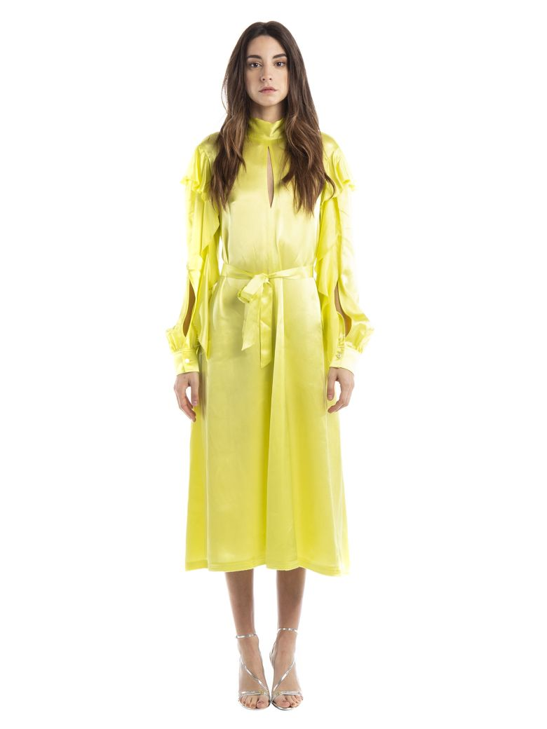Golden Goose Mock Neck Dress - Yellow