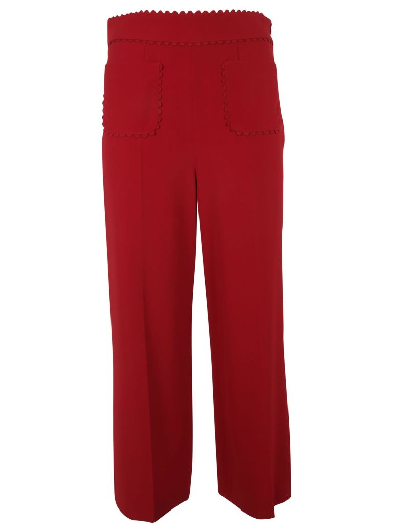 RED Valentino Frisottino Stretch Trousers - Red