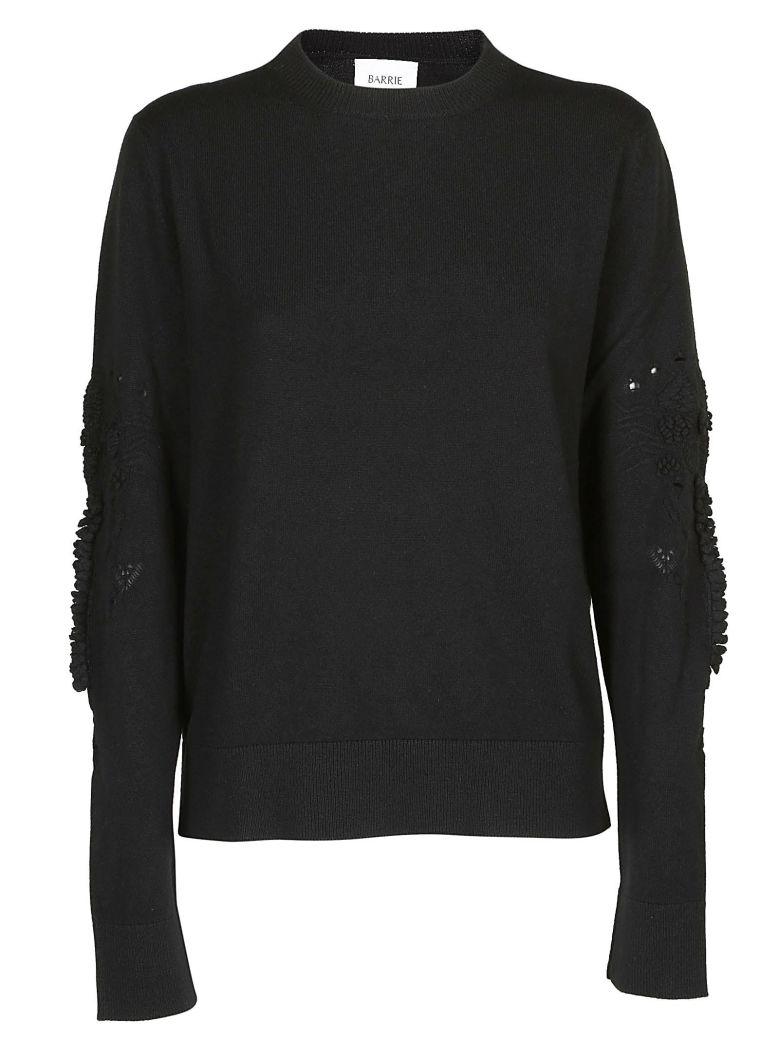 Barrie Textured Sleeves Sweater - Black