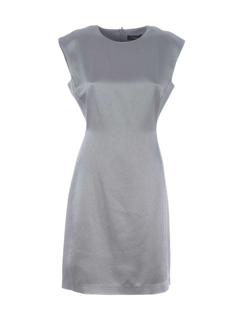Theory Fitted Midi Dress - Grigio