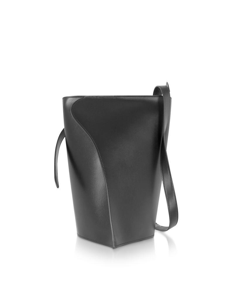 Giaquinto Layla Leather Shoulder Bag - Black