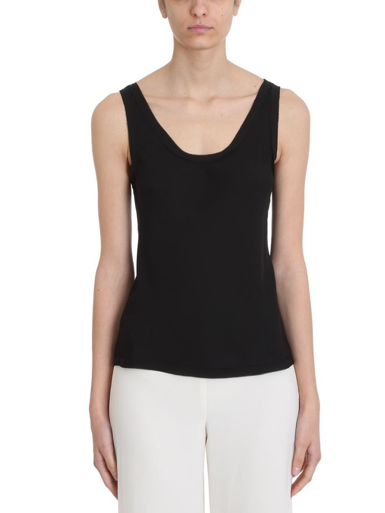 Theory Sleeveless Round Neck Top - black