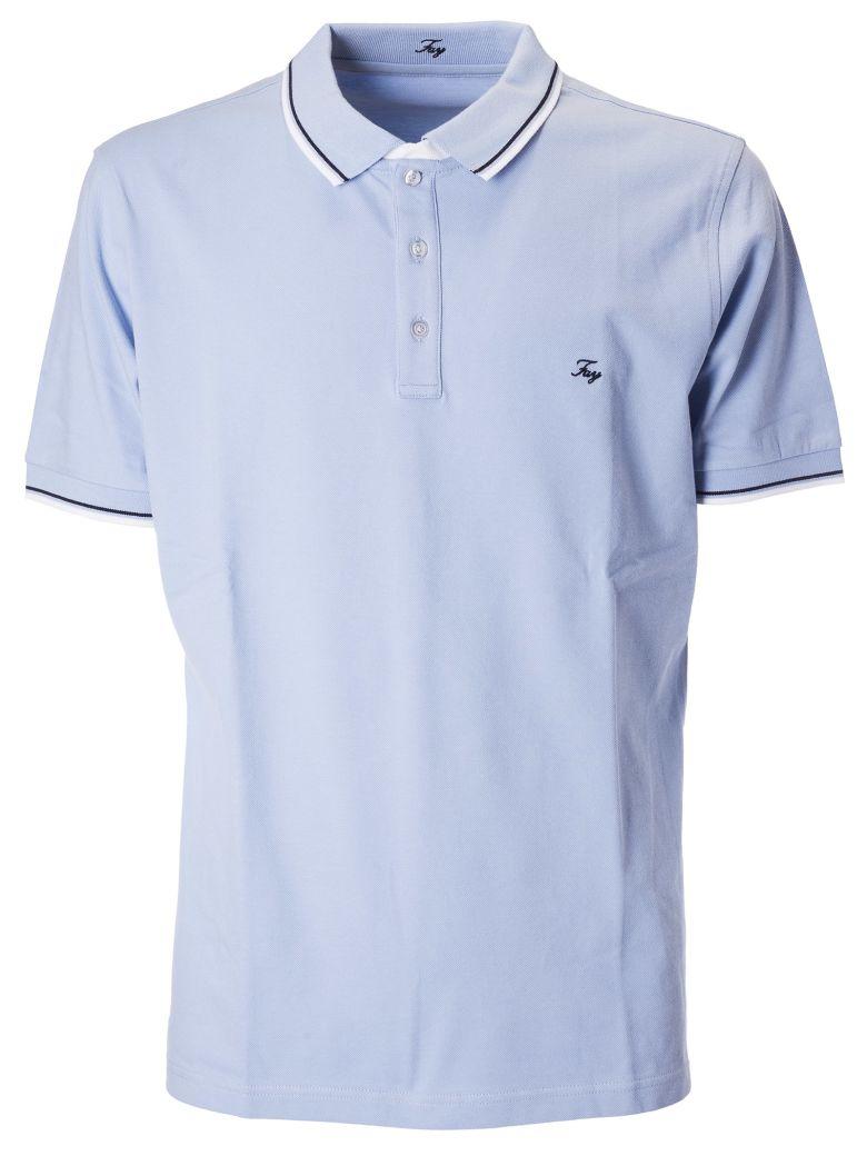 Fay Embroidered Logo Polo Shirt - Celeste