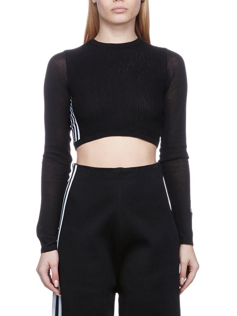 Adidas Originals Ribbed Top - Nero bianco
