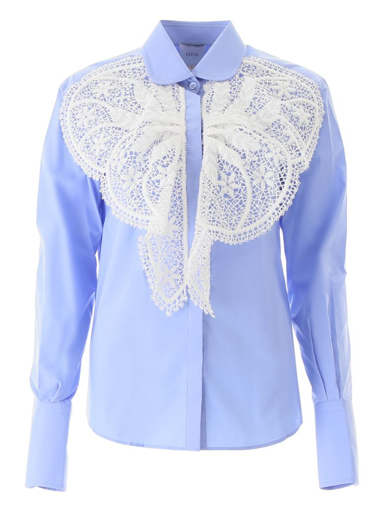 Patou Broderie Shirt - BLUE (Light blue)