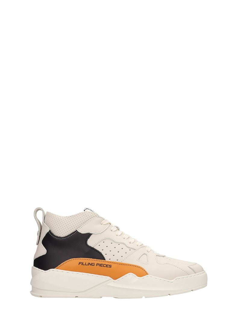 Filling Pieces Beige-orange Leather Lay-up Ices Sneakers - Beige