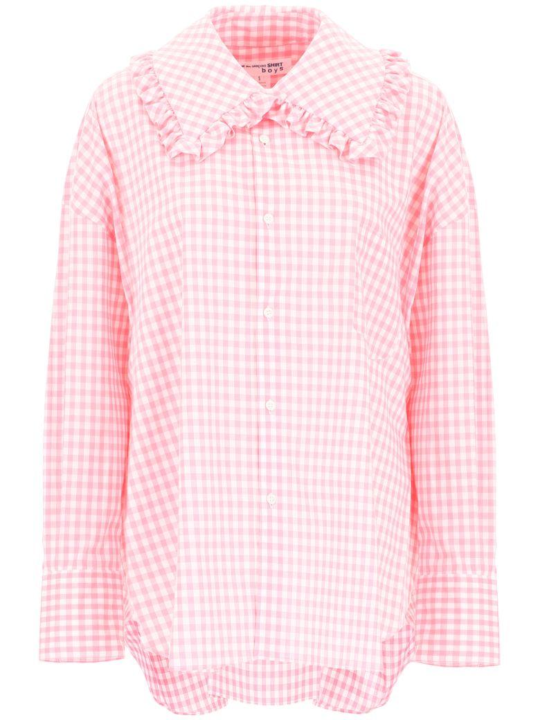Comme des Garçons Boys Gingham Shirt - PINK (White)