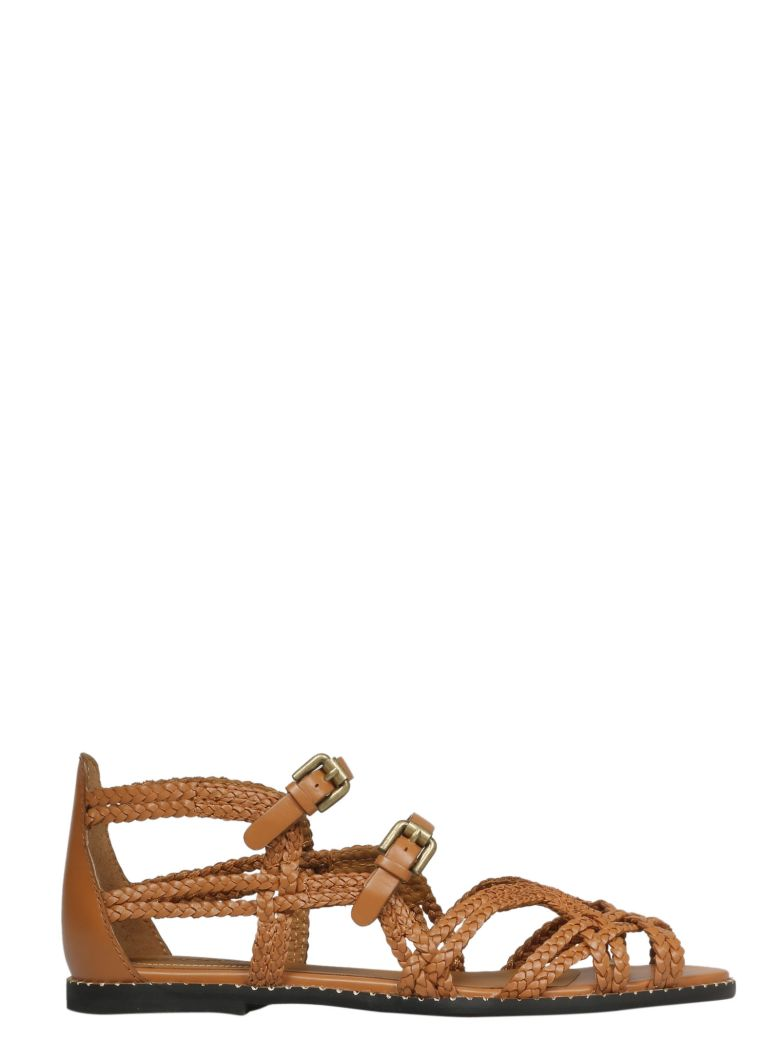 See by Chloé Woven Strappy Sandals - Sierra