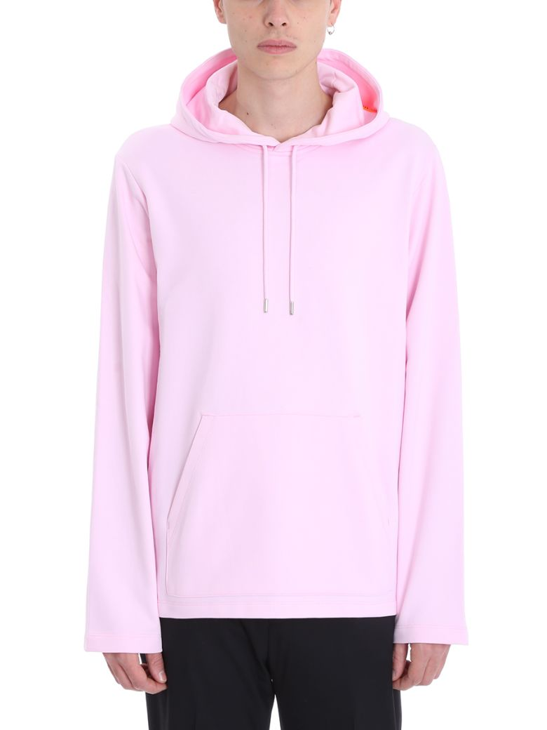 Helmut Lang Red Cotton Hoodie - rose-pink