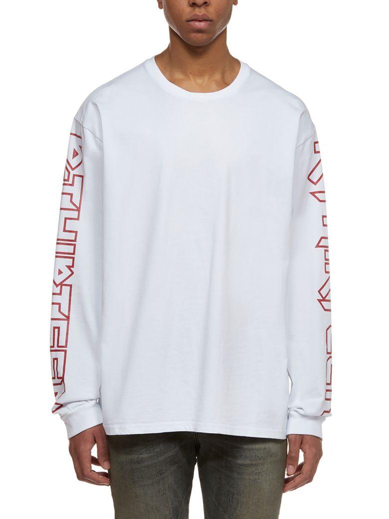R13 Logo Longsleeved T-shirt - Bianco rosso