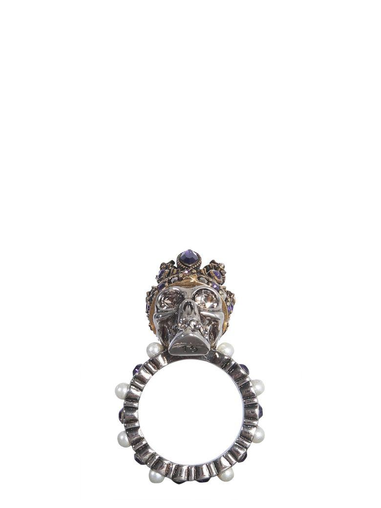 Alexander McQueen Skull Queen Ring - MULTICOLOR