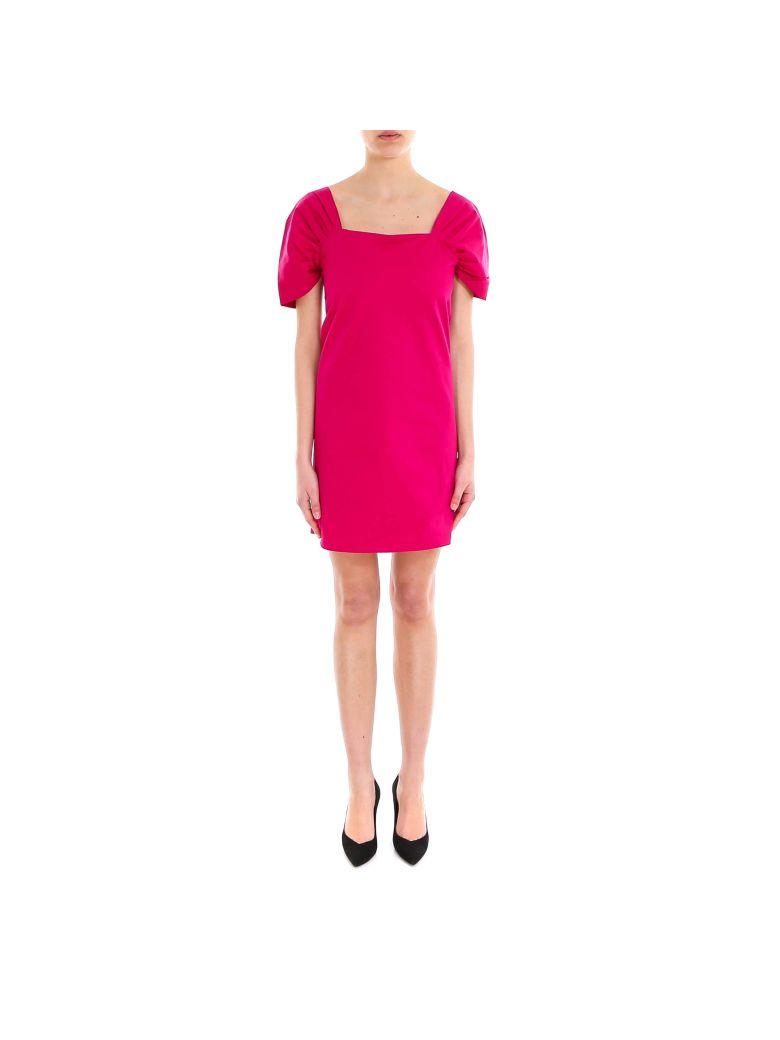 Theory Draped Slv Dress - Pink