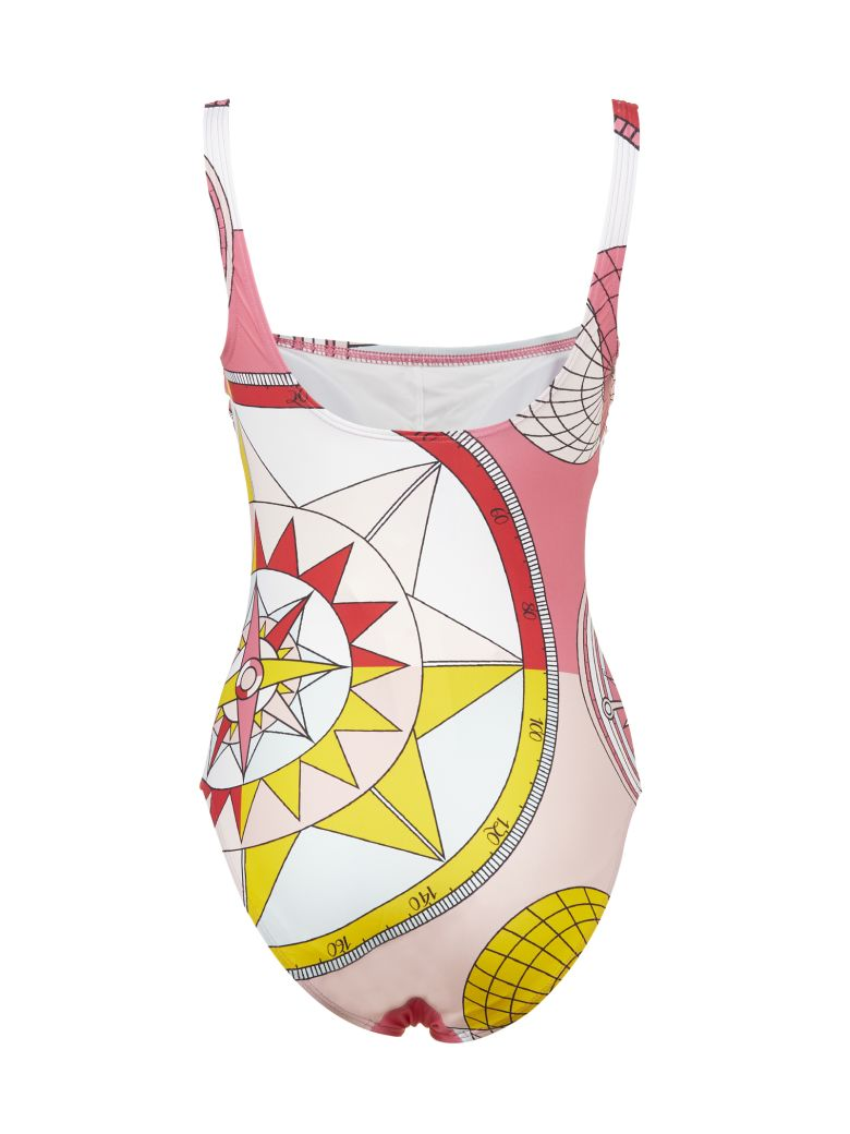 Tory Burch Compass Print Swimsuit - Rosa multicolor