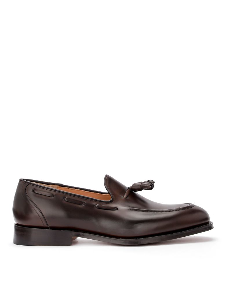 Church's  Kingsley 2 Brown Ebony Leather Loafer With Nappas. - MARRONE