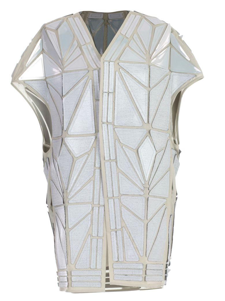 Rick Owens Geometric Vest - Oyster