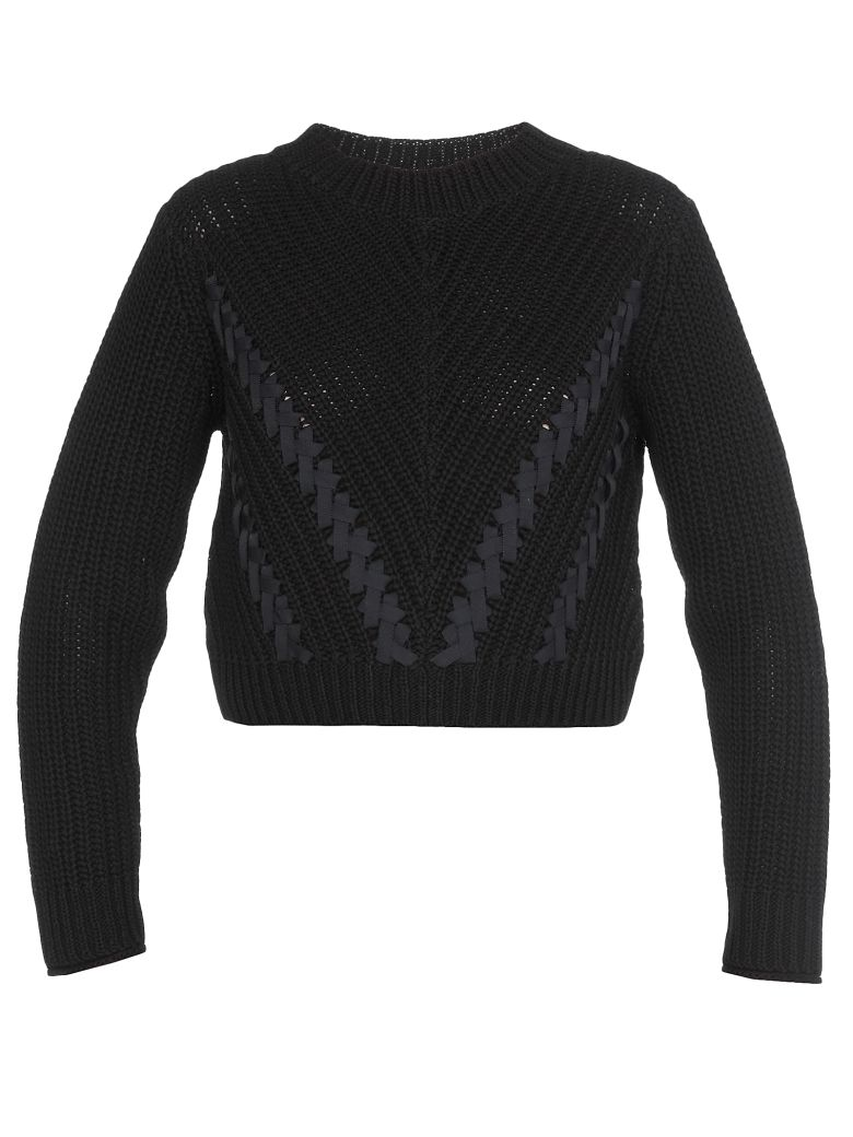 3.1 Phillip Lim Cropped Sweater - BLACK