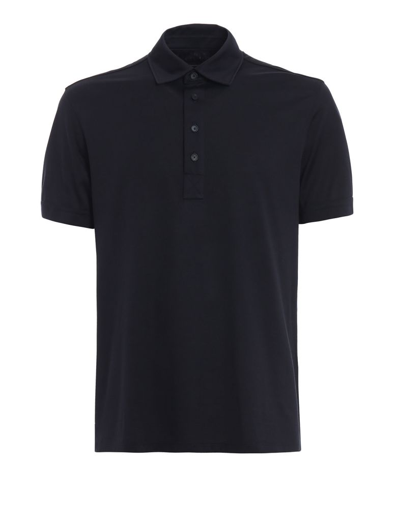 Ermenegildo Zegna Slim Fit Polo Shirt - Black