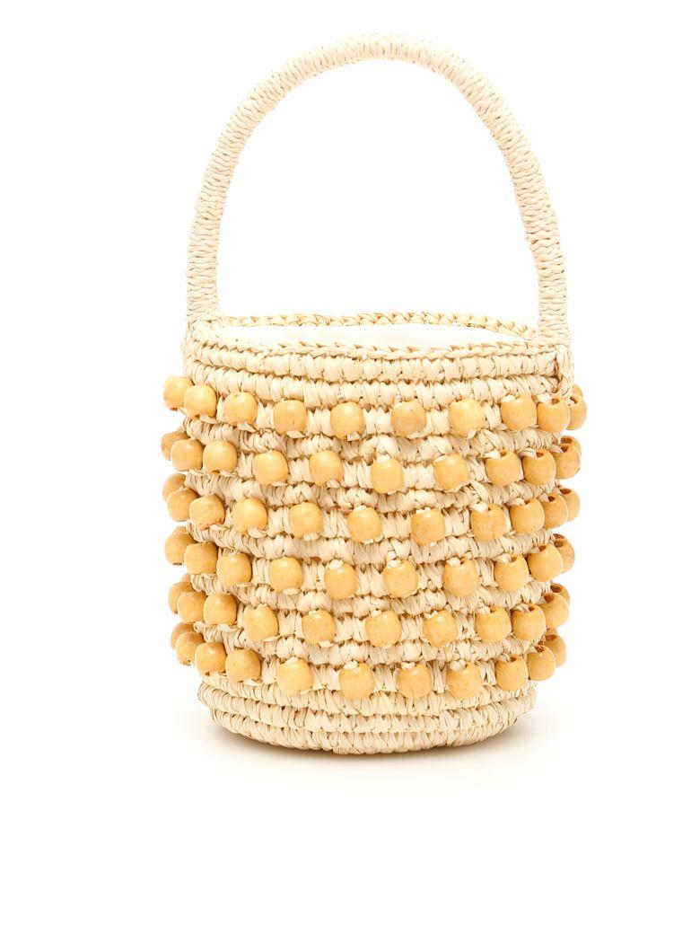 Sensi Studio Mini Wicker Bucket Bag - NATURAL (Beige)