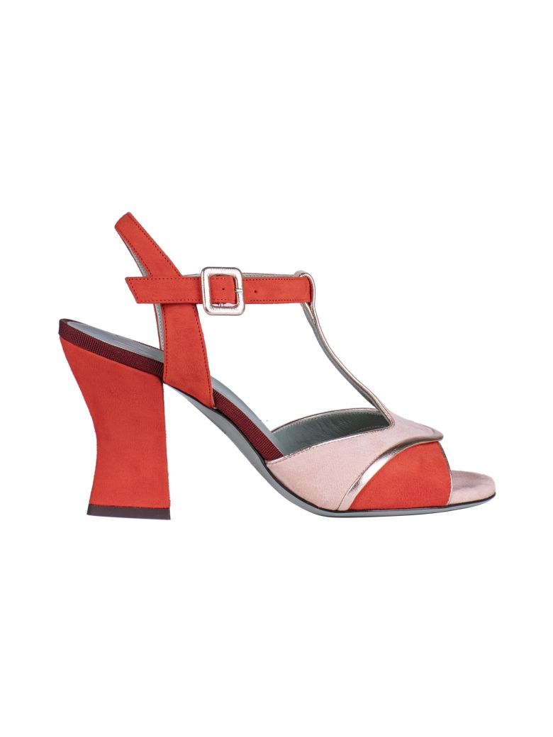 Paola D'Arcano Paola D'arcano Color Blocked Sandals - Red/Pink
