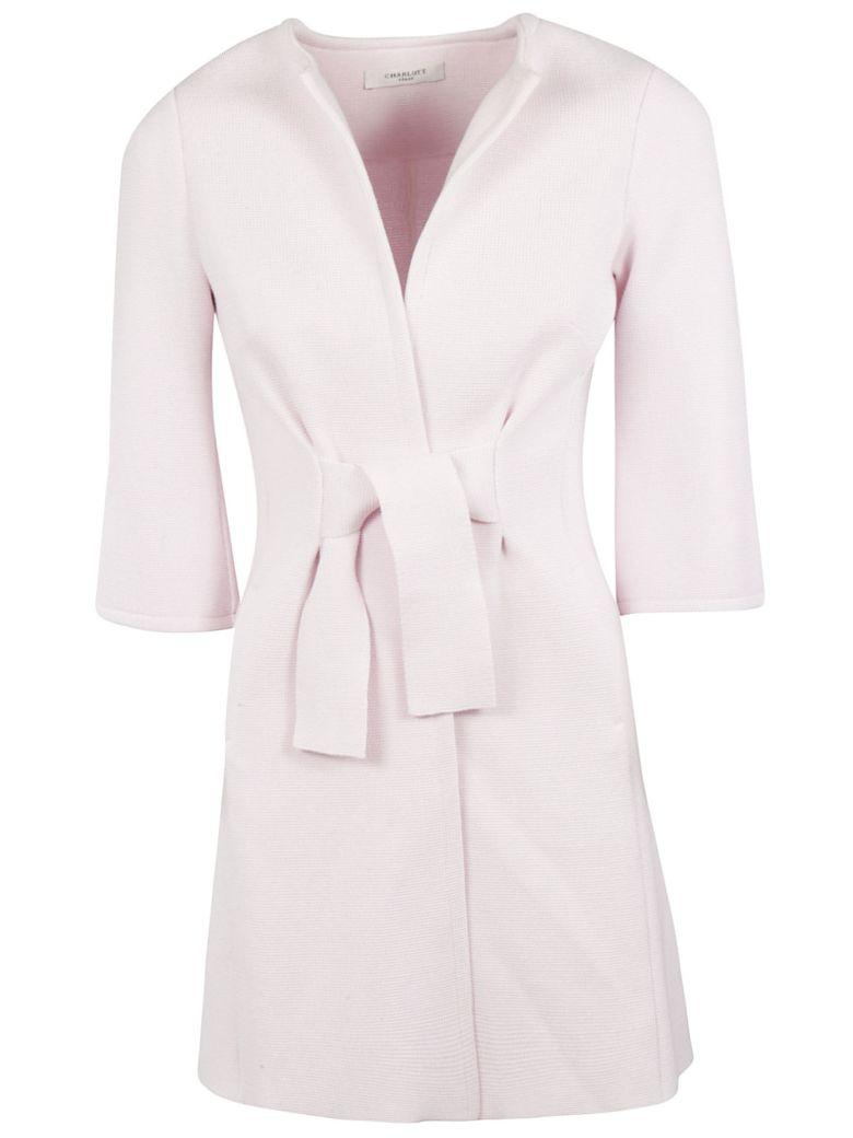 Charlott Tie Waist Coat - Rosa