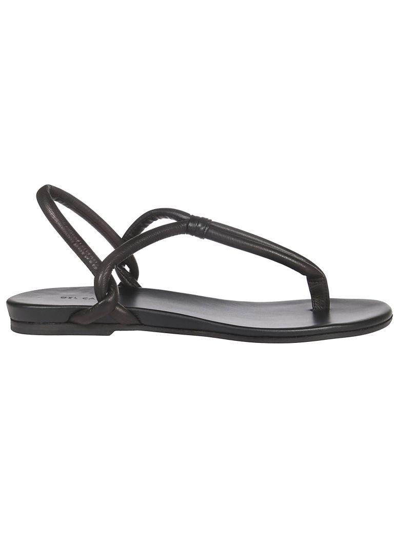 Roberto del Carlo Thong Strap Sandals - Black