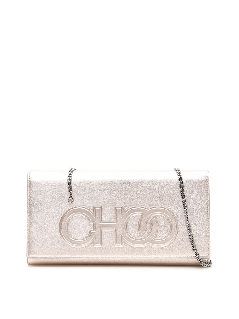 Jimmy Choo Scottie Clutch - PLATINUM (Gold)