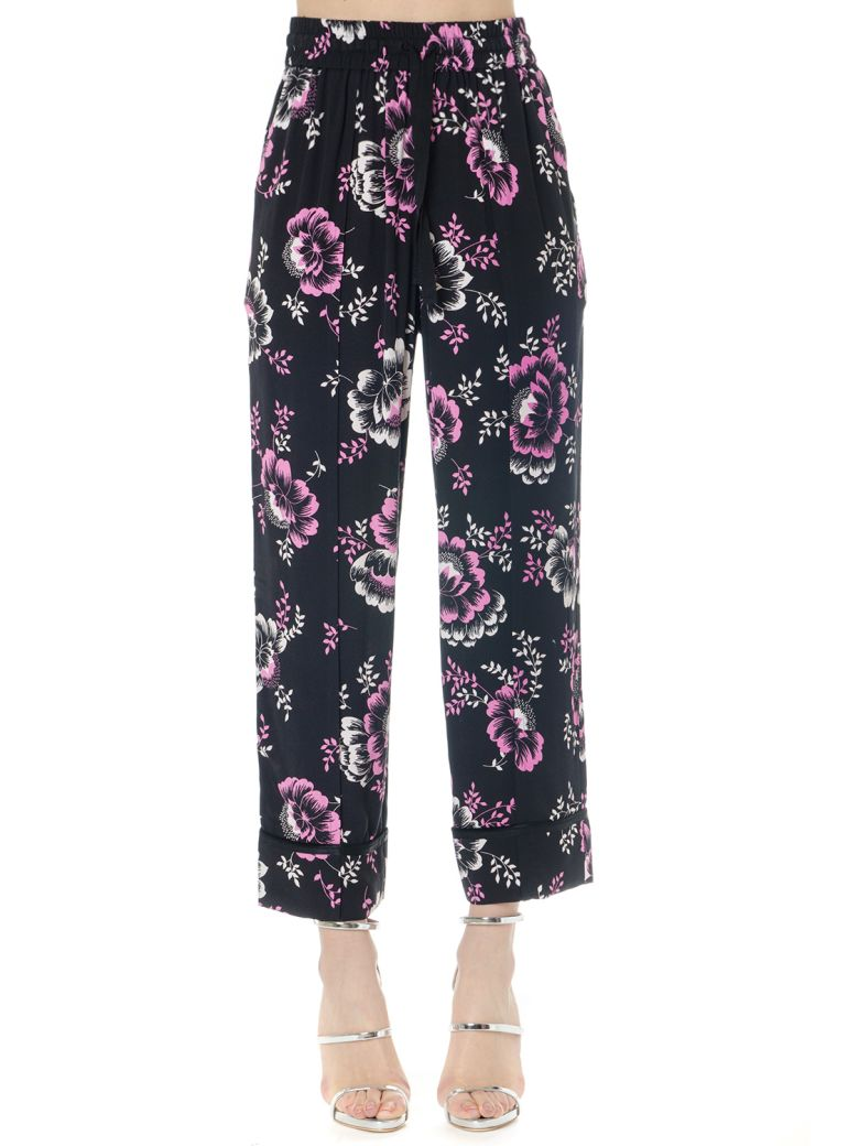 McQ Alexander McQueen Flower Viscose Pants - Black
