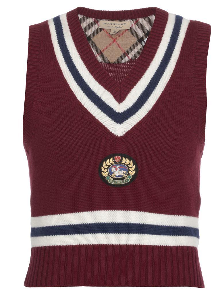 Burberry Wool Top - BURGUNDY