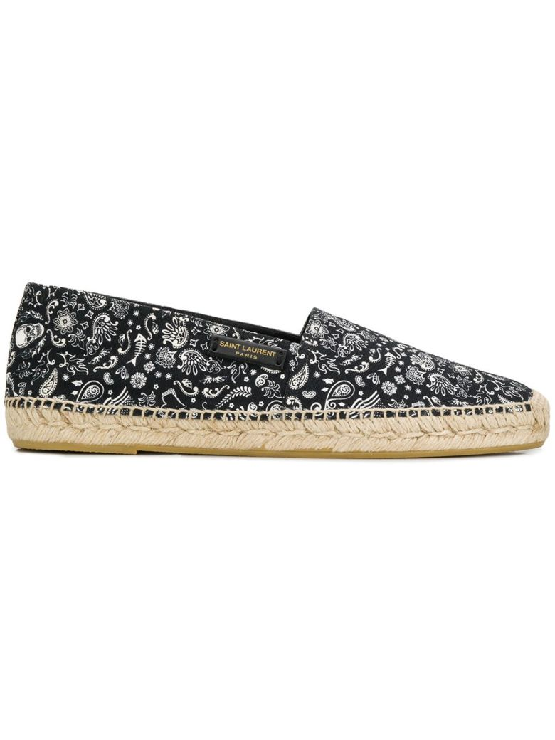Saint Laurent Printed Espadrilles - Black/white