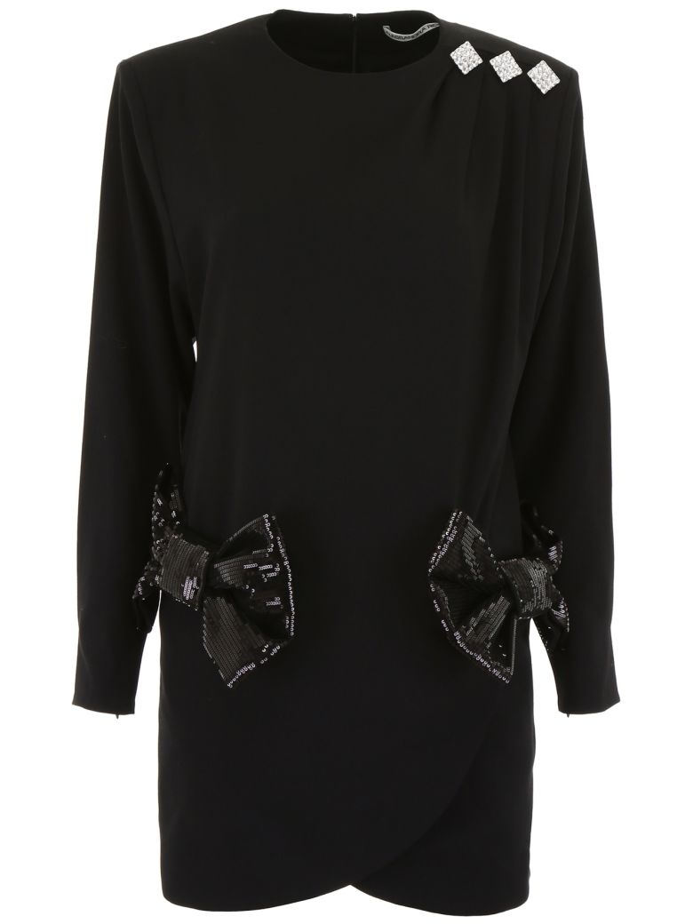ALESSANDRA RICH MINI DRESS WITH BOWS