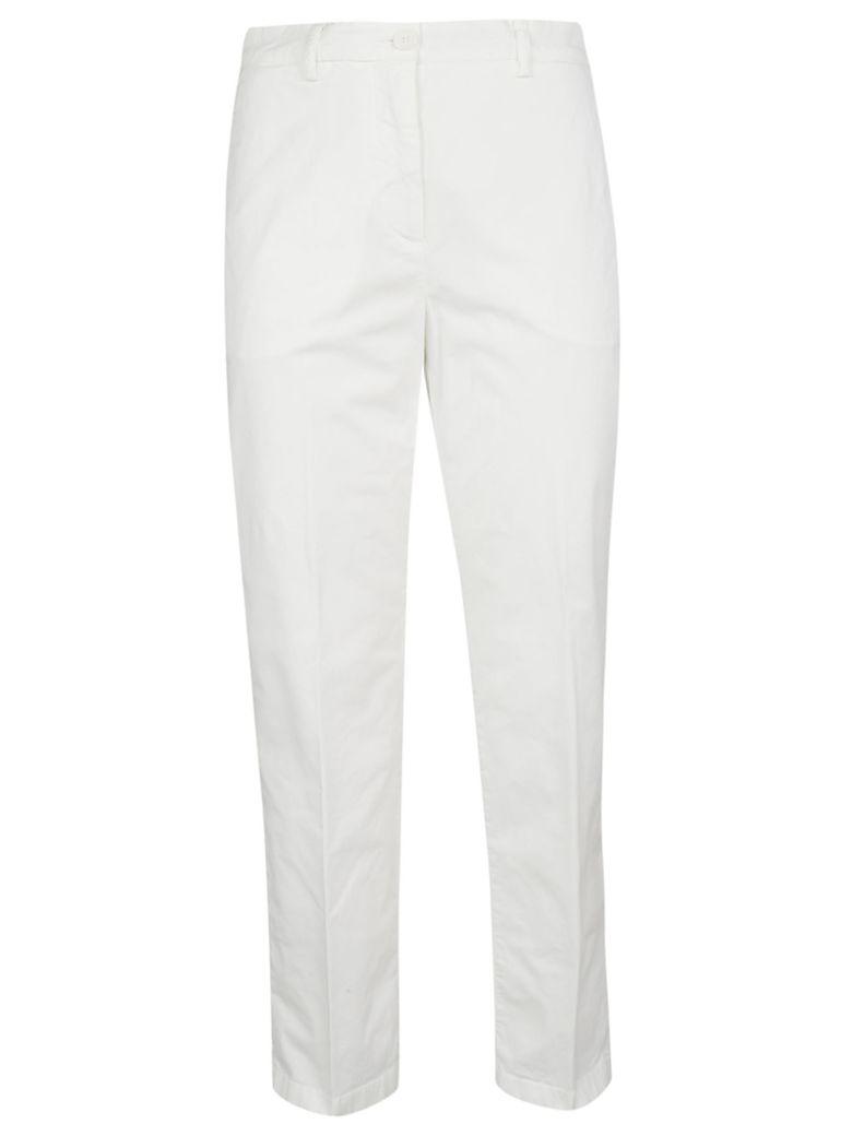 Aspesi Cropped Slim-fit Trousers - White