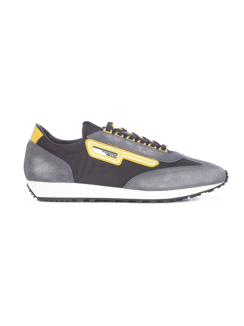 Prada Lace-up Sneakers - Black