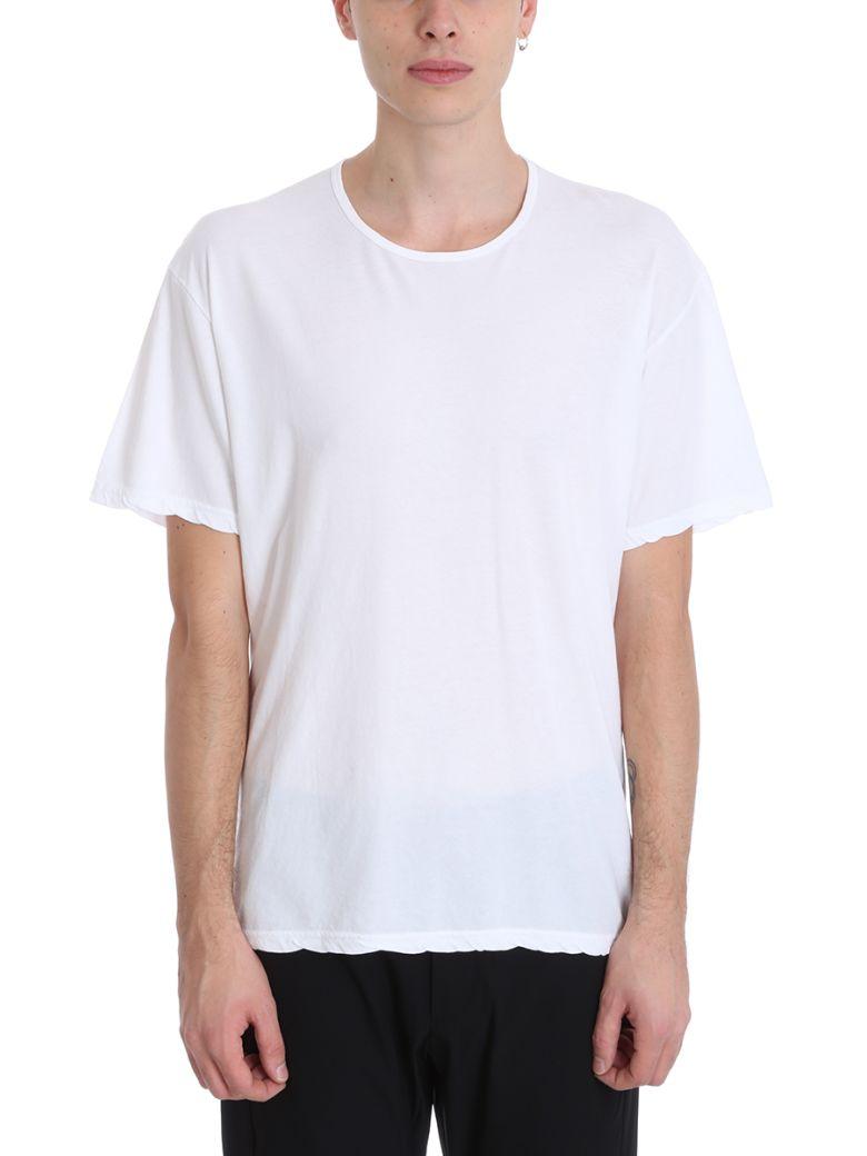 Attachment White Cotton T-shirt - white