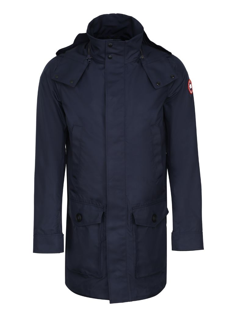 Canada Goose Crew Hooded Raincoat - blue