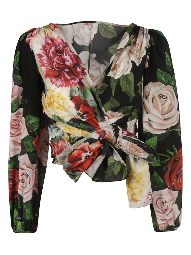Dolce & Gabbana Floral Blouse - red