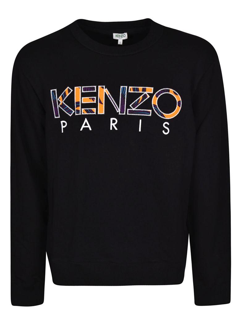 Kenzo Logo Embroidered Sweatshirt - Black